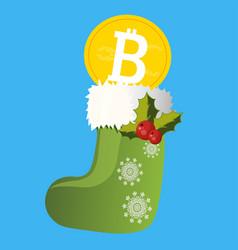 bitcoin digital currency vector image vector image