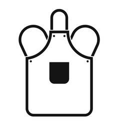 Blacksmiths apron icon simple vector