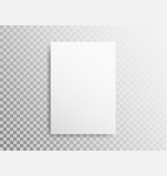 blank a4 sheet on transparent background white vector image