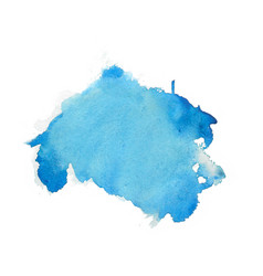 blue watercolor abstract stain texture background vector image