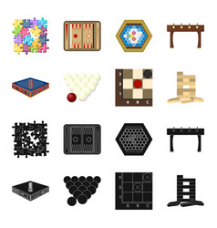 Board game blackcartoon icons in set collection vector