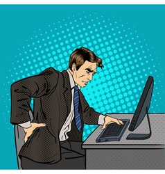 Businessman Suffering from Backache at Work vector