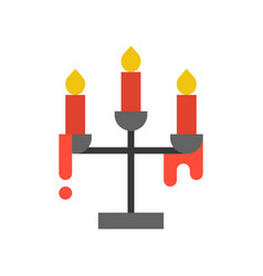 Candle holder halloween related icon vector