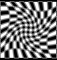 Checkered pattern with distortion effect opposite vector