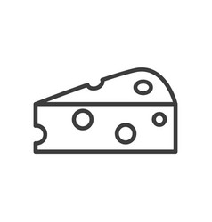 Cheese simple food icon in trendy style isolated vector