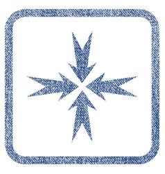 Compression arrows fabric textured icon vector