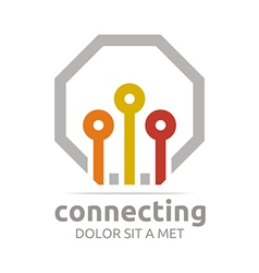 Connecting design icon element vector