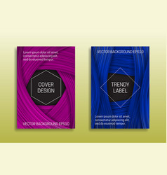cover templates with volumetric strokes trendy vector image