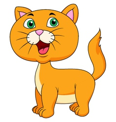 Cute cat cartoon vector image
