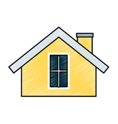 cute house exterior icon vector image