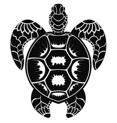 Decorative turtle vector