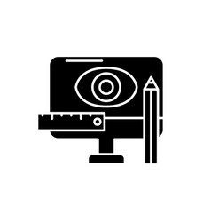 design methodology black icon sign on vector image