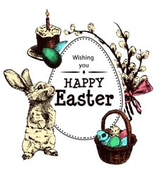 Easter Hand Drawn1 vector image