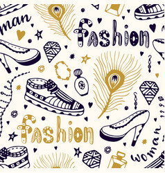fashionable seamless pattern with man and woman vector image