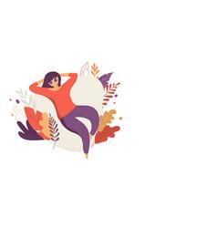 feminine concept beautiful woman vector image