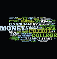 Financial tips for college students text vector
