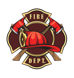 fire department emblem vector image