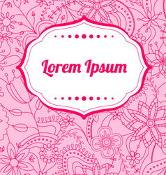 Flower-background-with-banner vector image