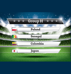 football championship group h soccer world vector image