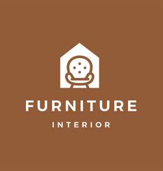 Furniture interior sofa house logo icon vector