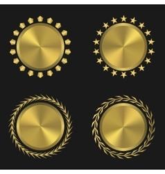 Golden medal set vector