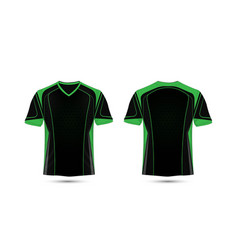 Green and black layout e-sport t-shirt design vector