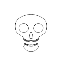 Halloween skull icon outline style vector image
