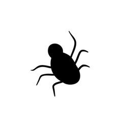 Halloween spider silhouette doodle element vector