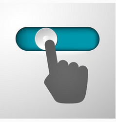 hand moves button vector image