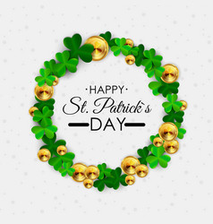 happy saint patricks day 17 march background with vector image