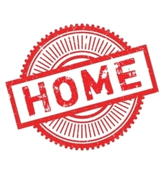 Home stamp rubber grunge vector