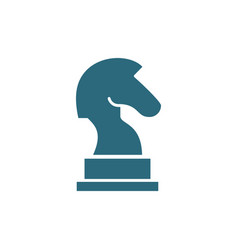 knight chess colored icon board game table vector image