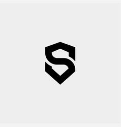 Letter s ss shield logo design simple vector