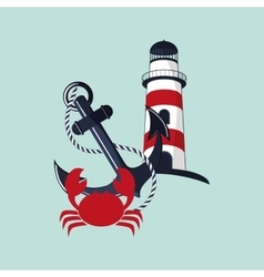 lighthouse emblem image vector image
