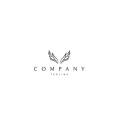 Logo on which an abstract image wings vector