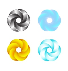 Logo Or Emblem Template Abstract Swirl Icon vector image