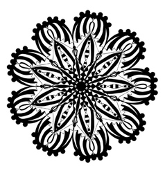 Mandala coloring page doodle vector image