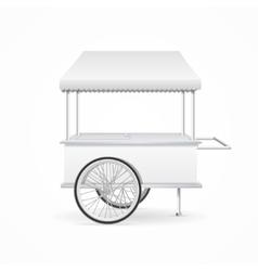 Market cart template vector