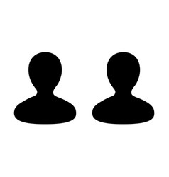 Meeting icon male group of persons symbol avatar vector
