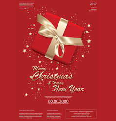 merry christmas and happy new year template vector image