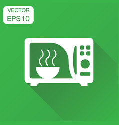 microwave icon business concept microwave oven vector image
