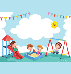 of children at park vector image