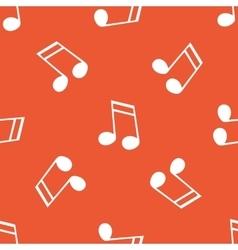 Orange 16th note pattern vector