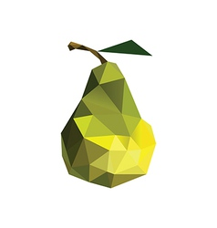 Origami pear vector image