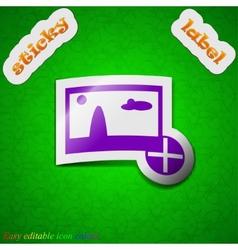 Plus add File JPG icon sign Symbol chic colored vector