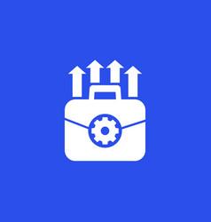 Portfolio optimization and growth icon vector