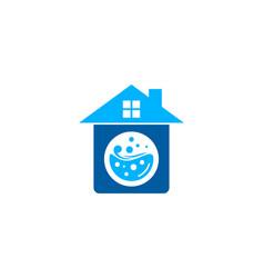 Property laundry logo icon design vector