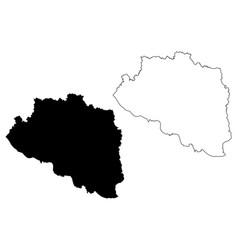 Rajshahi division map vector