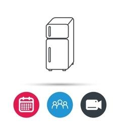 Refrigerator icon Fridge sign vector