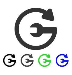 Repeat service flat icon vector